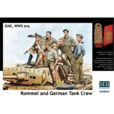 Rommel and German Tank Crew 1/35