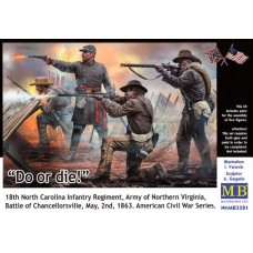 """""""Do or die!"""" 18th North Carolina Infantry Regiment, Battle of Chancellorsville, May 2nd 1863 1/35"""