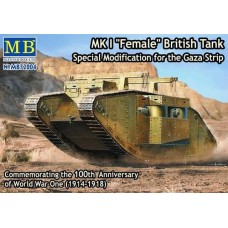"Mark I ""Female"" British Tank Special Modification for the Gaza Strip 1/72"