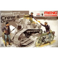 French Tank Crew & Orderly (for FT-17) 1/35