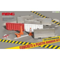 Concrete & Plastic Barrier Set 1/35