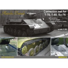 1/35 Correction set for T-70, T-80, Su-76