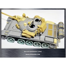 Conversion set for Т-55AD, gun barrel (metal)+ PE parts for Takom, Miniart kits 1/35