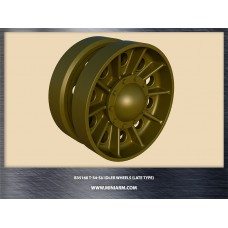 T-34/SU Idler wheels (late type) for Dragon, Zvezda kits 1/35