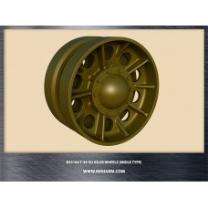 T-34/SU Idler wheels without a rim for Dragon, Zvezda kits 1/35