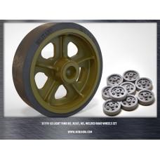 M3/M3A1/M5 (Stuart), welded road wheels set for Tamiya, Academy, Italeri, AFV Club kits 1/35