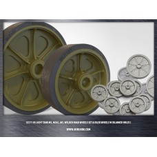 M3/M3A1/M5 (Stuart), welded road wheels set & Idler wheels w/ blanked holes for Tamiya, Academy, Italeri, AFV Club kits 1/35