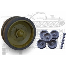 SU-100, SU-85/85M, T-34 Pressed road wheels set (Sormovo factory) for Dragon, Zvezda, Miniart kits 1/35
