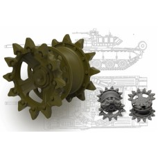 T-80 Drive sprockets for RPG, Xact, Trumpeter kits 1/35