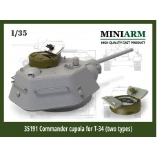 Commander cupola for T-34 (two types: cast/welded)  for Dragon, Zvezda kits 1/35