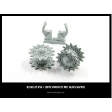 JS-I/II Drive sprockets and mud scrapers 1/35