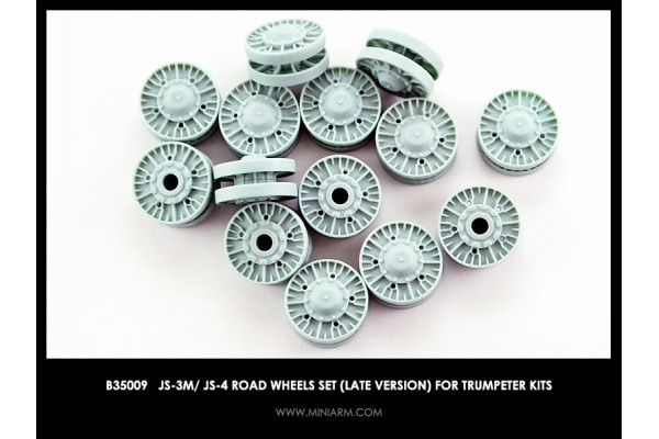 JS-3M, JS-4  Road wheels set (late version) for Trumpeter kits 1/35