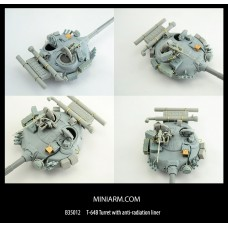 T-64B Turret with anti-radiation liner, includes PE parts for Trumpeter kit 1/35