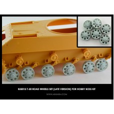 T-50 Road wheels set (late version) for Hobby Boss kit 1/35
