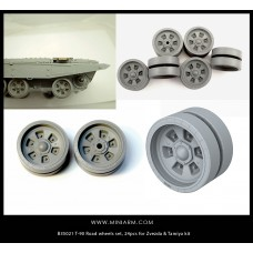 T-72/T-90 Road wheels set, 24pcs for Zvezda, Meng, Trumpeter kits 1/35