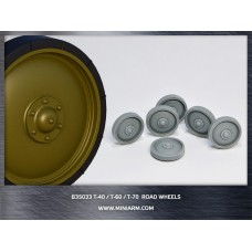 T-40/T-60/T-70 Road wheels 12pcs for MiniArt, Hobby Boss kits 1/35