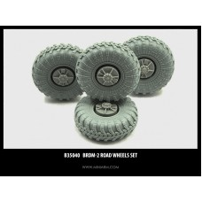 BRDM-2 Road wheels set, 4pcs for Dragon, Revell, Zvezda, Trumpeter kits 1/35
