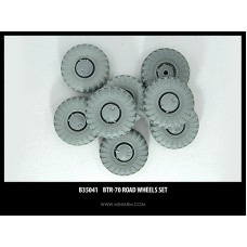 BTR-70 Road wheels set, 8pcs for Dragon, Zvezda, Trumpeter kits 1/35