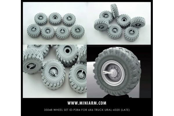 Wheel set ID-P284 for 6X6 Truck URAL-4320 (6pcs plus extra) for Trumpeter kit 1/35