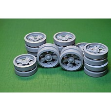 T-55AM Road Wheels set, 20 pcs: 16 pcs with a standard hub  & 4 pcs with reinforced hub 1/35