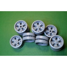 T-62 Road Wheels set, 20 pcs: 12 pcs with a standard hub & 8 pcs with reinforced hub 1/35