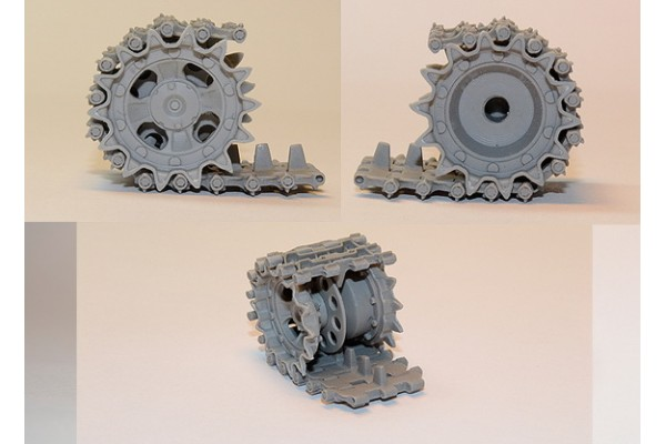 T-55 (late) /T-62 Workable tracks set plus extra & drive sprockets (RMsh) for Tamiya,Trumpeter kit 1/35