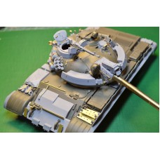 T-55AM Conversion set, includes PE parts, gun barrel (metal), for Tamiya kit 1/35