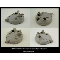 T-62 m1972 Turret, Includes some interior parts, PE parts, for Trumpeter kit 1/35