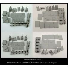 "Modern Russian AFV ERA Block ""Contact-5"" for T-90 for Zvezda, Tamiya, Meng, Trumpeter kits 1/35"