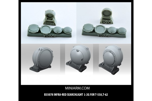 L-2G Infra-red searchlight for T-55A,T-62, Modern Russian Armor 1/35