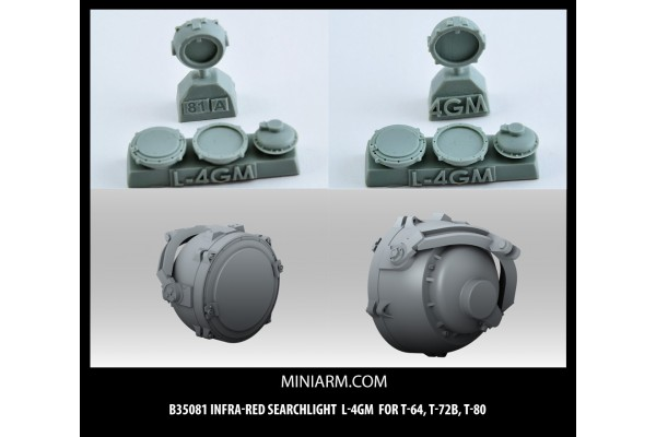 L-4GM Infra-red searchlight for T-64, T-72B, T-80, Modern Russian Armor 1/35