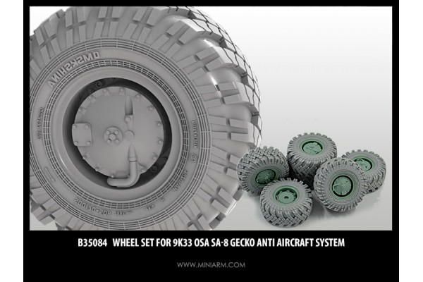 Wheel set for 9K33 Osa SA-8 Gecko Anti Aircraft system for Trumpeter kit 1/35