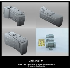 T-72AV/T-72B/T-72BA ZiP Box for turret (3pcs), includes PE parts for Trumpeter, Meng, Tamiya kits 1/35