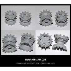 T-72B2, T-72B4, BMPT  Drive sprockets for Trumpeter, Meng, Xact kits 1/35