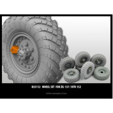 Wheel set  for ZiL-137 / BTR-152 (6pcs plus extra) includes PE part 1/35