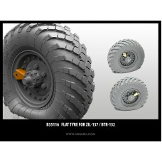 Flat tyre for ZiL-137 / BTR-152  (2pcs) includes PE part  1/35