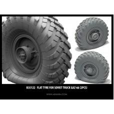 Flat tyre for Gaz-66 (2pcs) 1/35