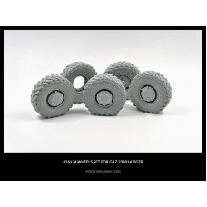 Wheel set for GaZ Tiger 4pcs plus extra 1/35