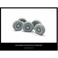 Wheels set for GaZ Tiger-M (SOF) 4pcs plus extra 1/35
