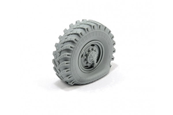 Flat tyre OI-25 for 6X6 Truck URAL-4320/ 375, 1pc, 1/35