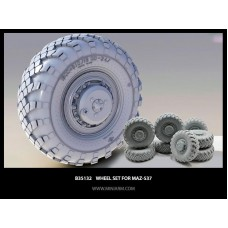 Wheel set Vi-202 for MaZ-537 and KZKT-7428 (8pcs) 1/35