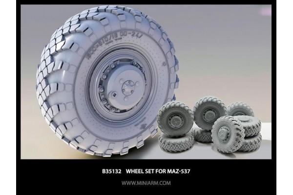 Wheel set Vi-202 for MaZ-537 and KZKT-7428 (8pcs) 1/35