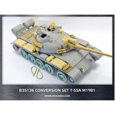 Conversion set for Т-55A m1981, gun barrel (metal)+ PE parts, for Takom kit 1/35