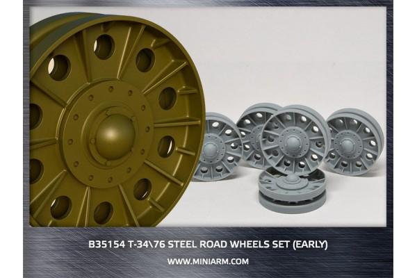 T-34/76 Steel road wheels set (early version) for Dragon, Zvezda kits 1/35