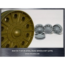 T-34/76 Steel road wheels set (late version) for Dragon, Zvezda kits 1/35