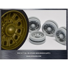 T-34/85 Spider web road wheels set (late version) for Dragon, Zvezda kits 1/35