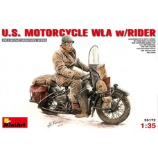 U.S. Motorcycle WLA with rider 1/35