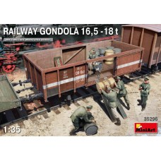 Railway Gondola 16,5-18t with Figures & Barrels 1/35