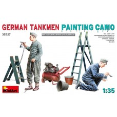 German Tankmen painting Camo 1/35
