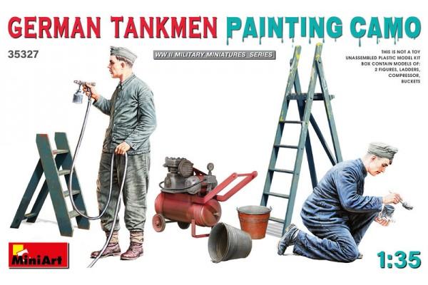 German Tankmen painting Camo 1/35